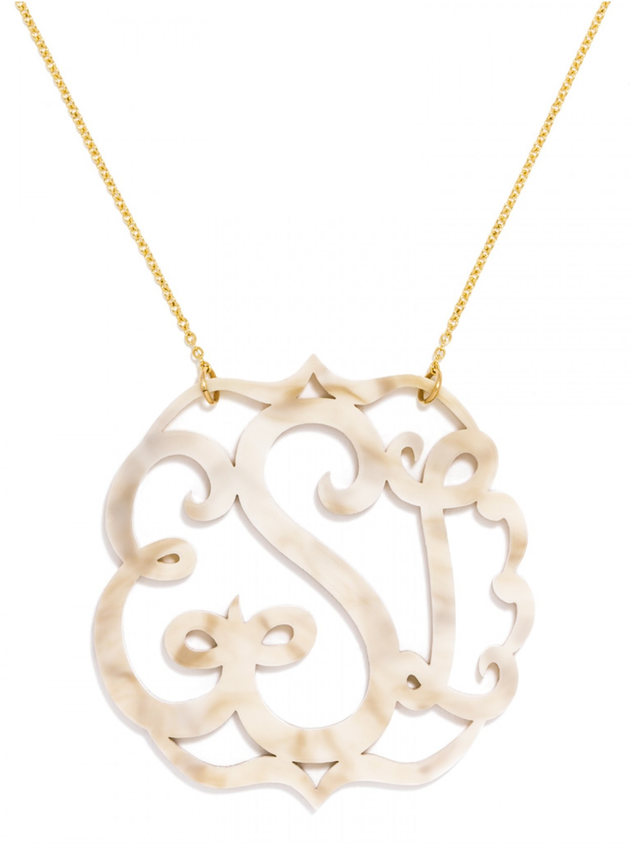 Large monogram pendant