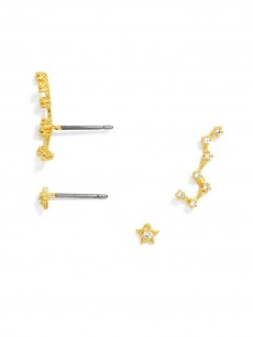 Constellation Ear Crawler Set-Clear/Gold