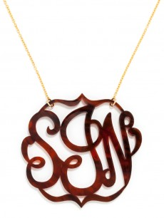Extra Large Acrylic Script Monogram Necklace