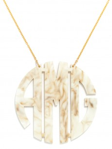 Extra Large Acrylic Block Monogram Necklace