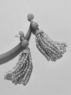 Picture of Tinsley Tassel Earrings-Gray